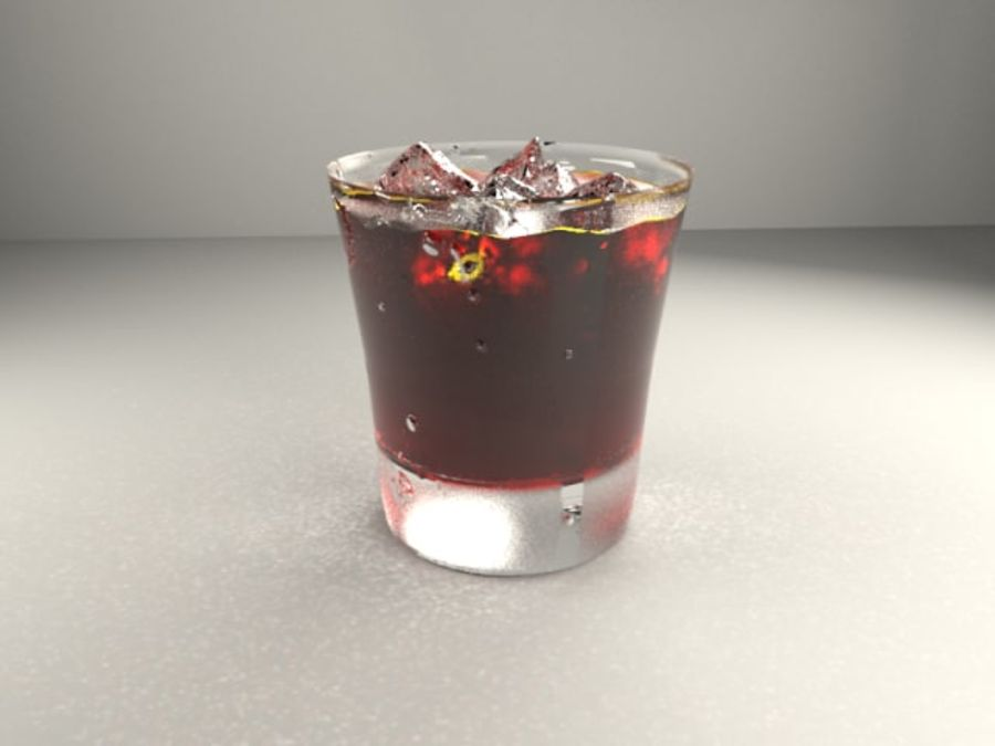 Glass of whiskey royalty-free 3d model - Preview no. 2