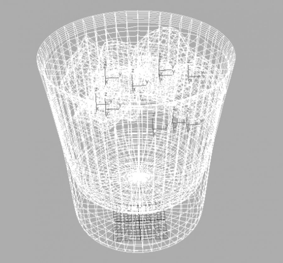 Glass of whiskey royalty-free 3d model - Preview no. 4