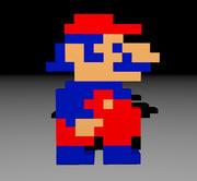Mario 3d Sprite - 8 bits - rétro 3d model