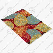 Loloi Rugs Fc-14 Brown Leaves 3d model