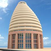 круглое высотное здание 3d model