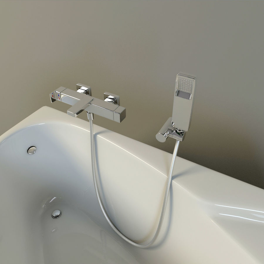 ducha del baño royalty-free modelo 3d - Preview no. 4