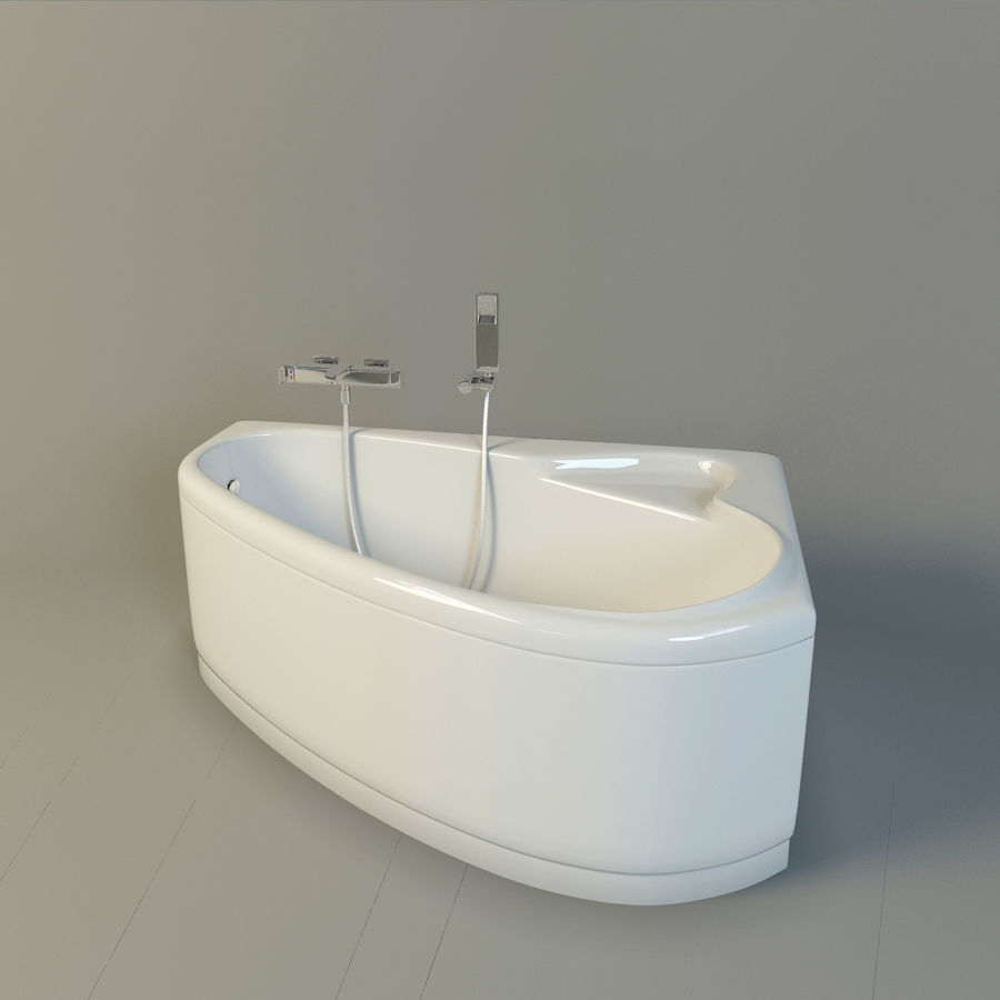 ducha del baño royalty-free modelo 3d - Preview no. 2
