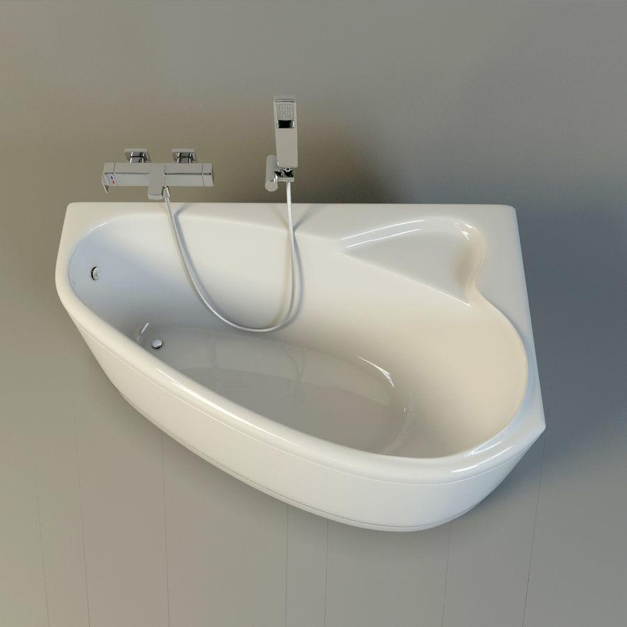 banho de banheira royalty-free 3d model - Preview no. 3