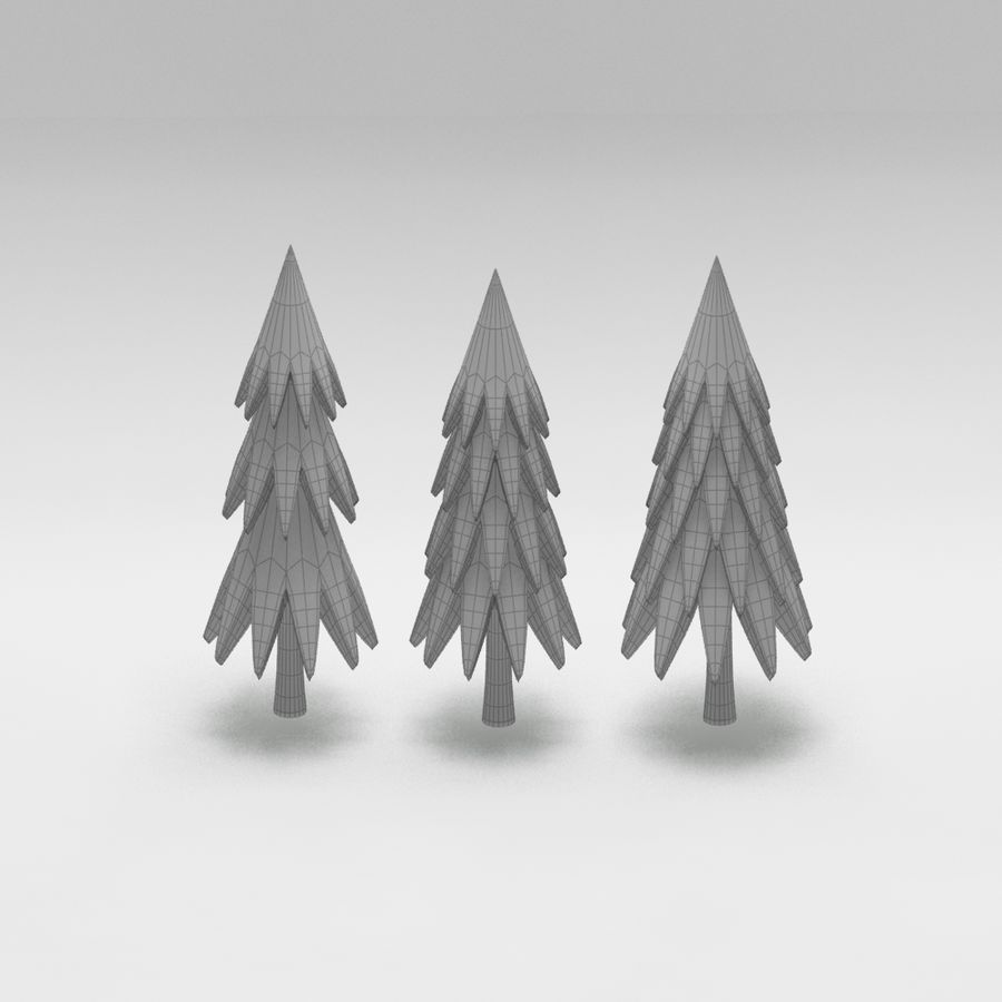 Cartoon tree royalty-free 3d model - Preview no. 8