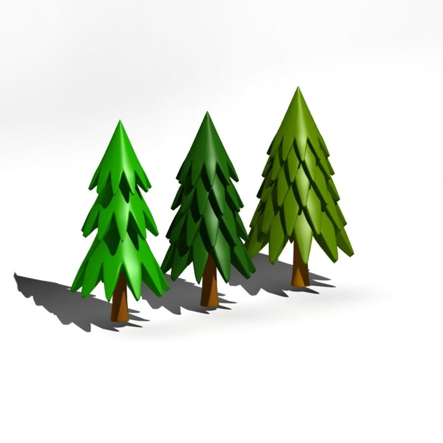 Cartoon tree royalty-free 3d model - Preview no. 1