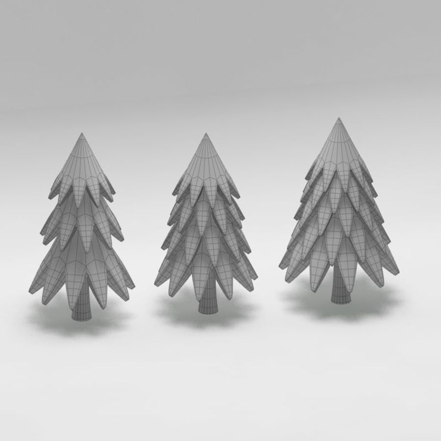 Cartoon tree royalty-free 3d model - Preview no. 7