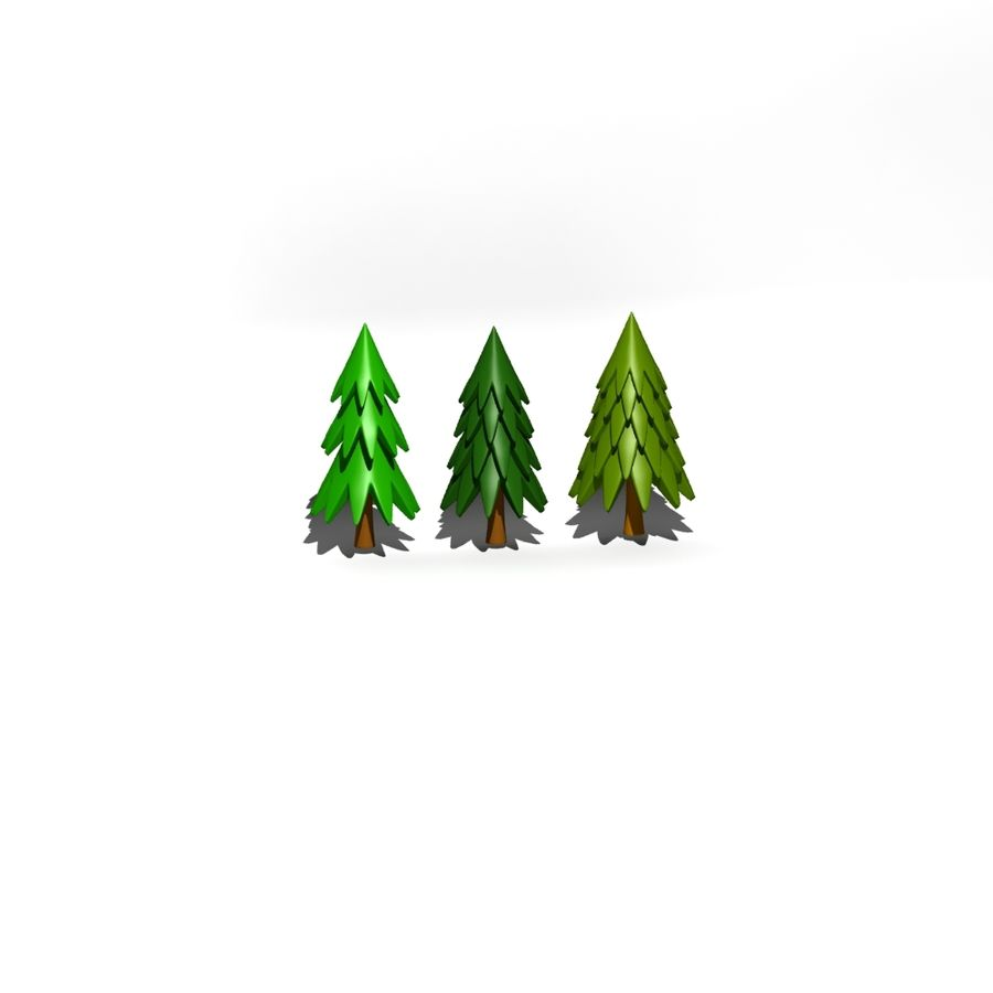 Cartoon tree royalty-free 3d model - Preview no. 6