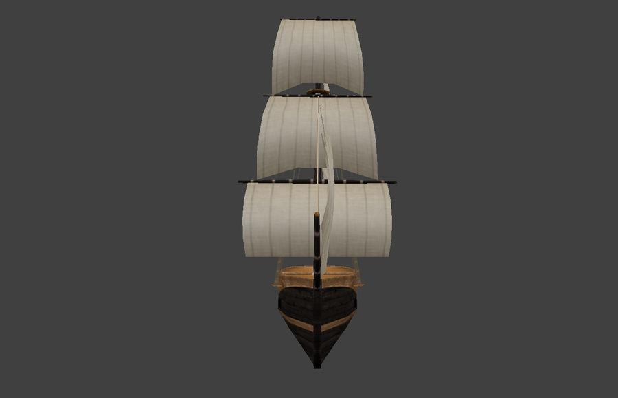 低ポリ船-ボート royalty-free 3d model - Preview no. 3