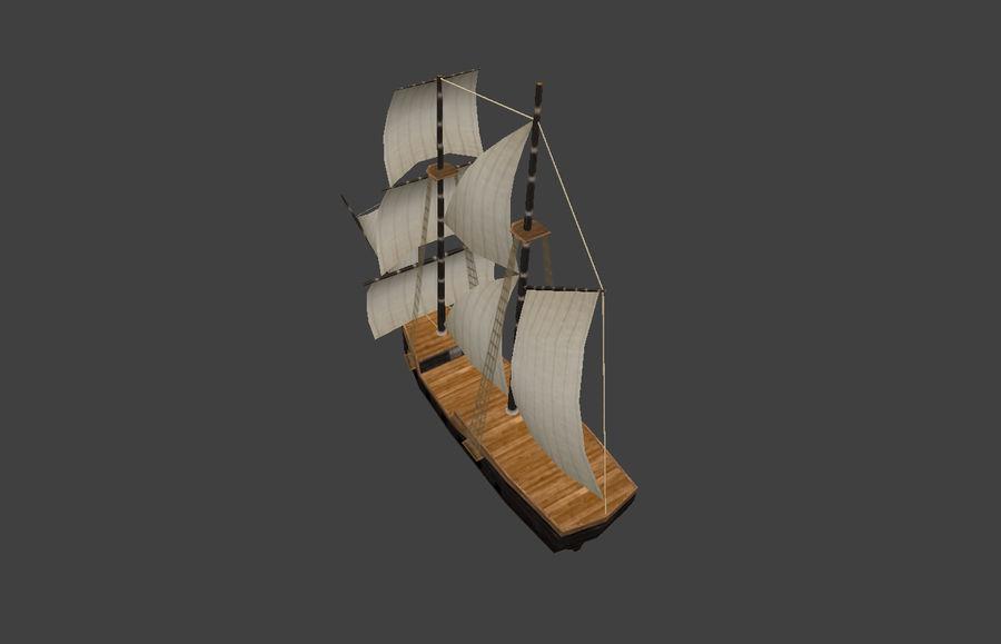 低ポリ船-ボート royalty-free 3d model - Preview no. 8