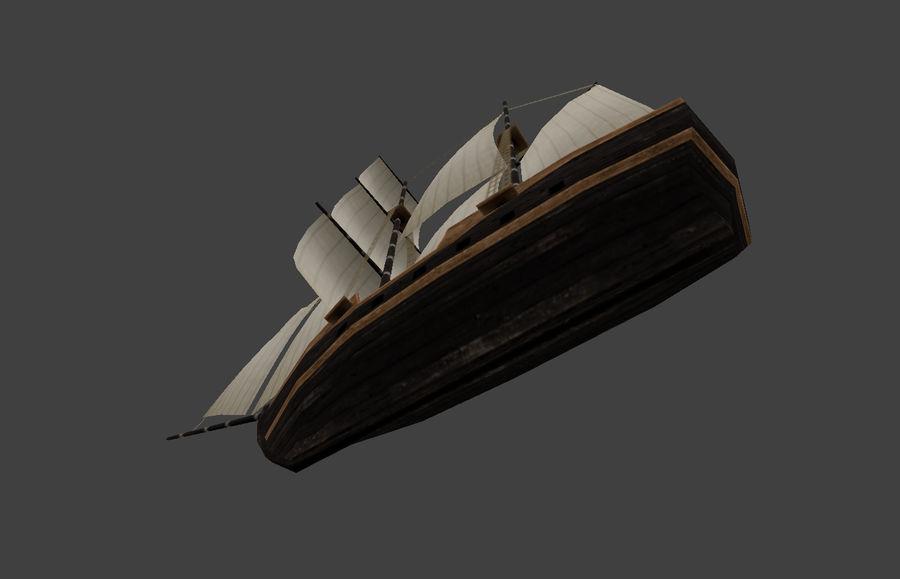低ポリ船-ボート royalty-free 3d model - Preview no. 9