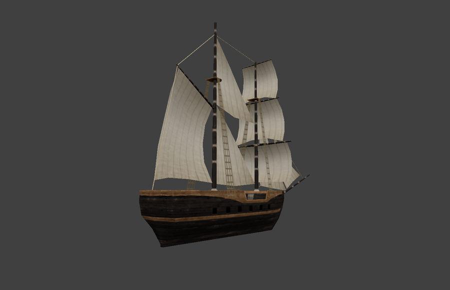 低ポリ船-ボート royalty-free 3d model - Preview no. 6