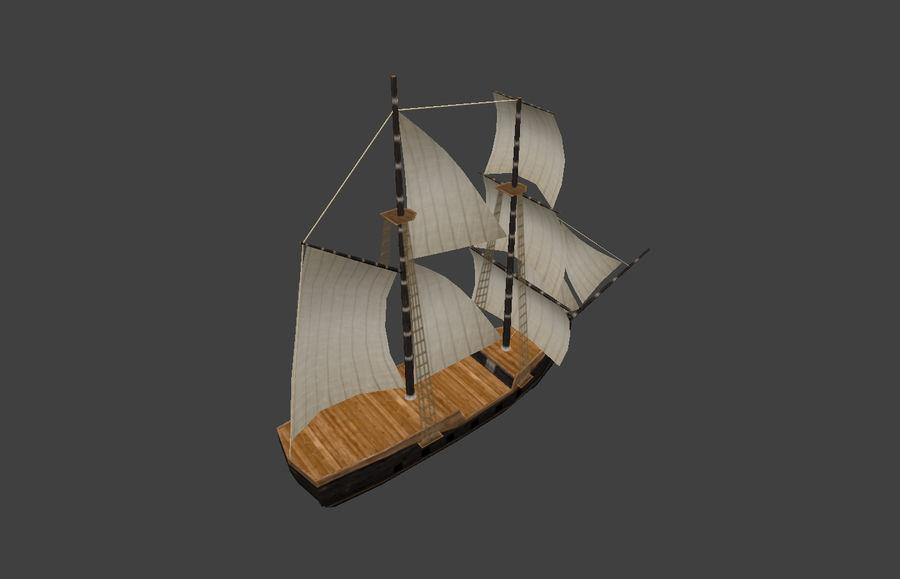 低ポリ船-ボート royalty-free 3d model - Preview no. 7