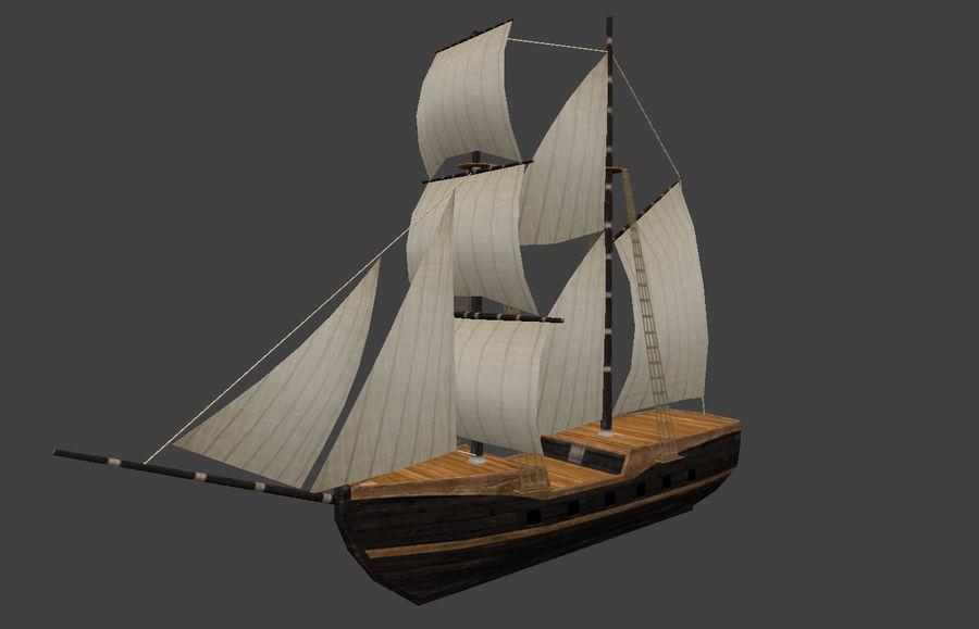 低ポリ船-ボート royalty-free 3d model - Preview no. 1