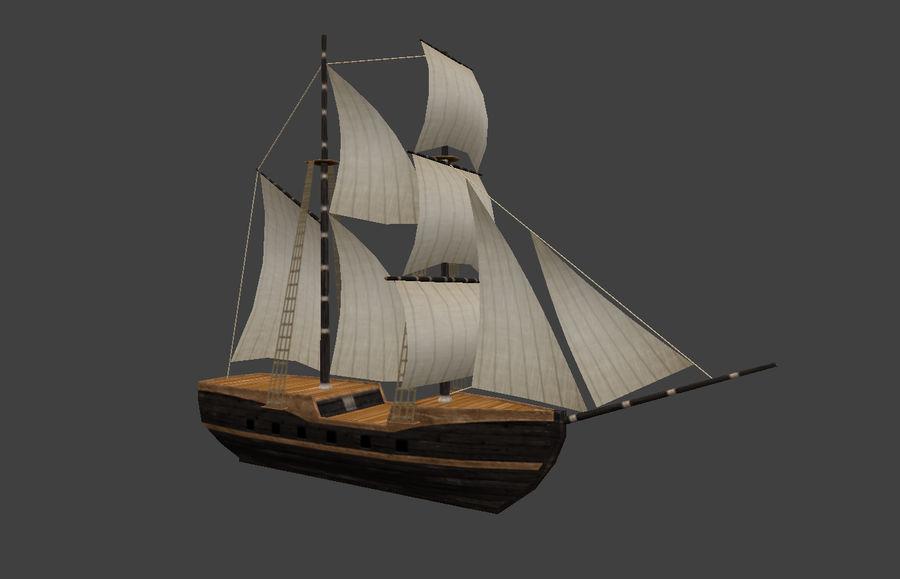 低ポリ船-ボート royalty-free 3d model - Preview no. 2
