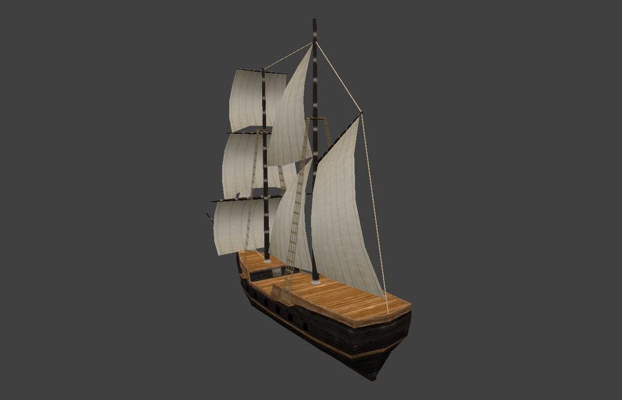 低ポリ船-ボート royalty-free 3d model - Preview no. 4