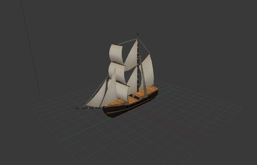 低ポリ船-ボート royalty-free 3d model - Preview no. 10