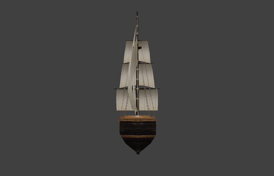 低ポリ船-ボート royalty-free 3d model - Preview no. 5