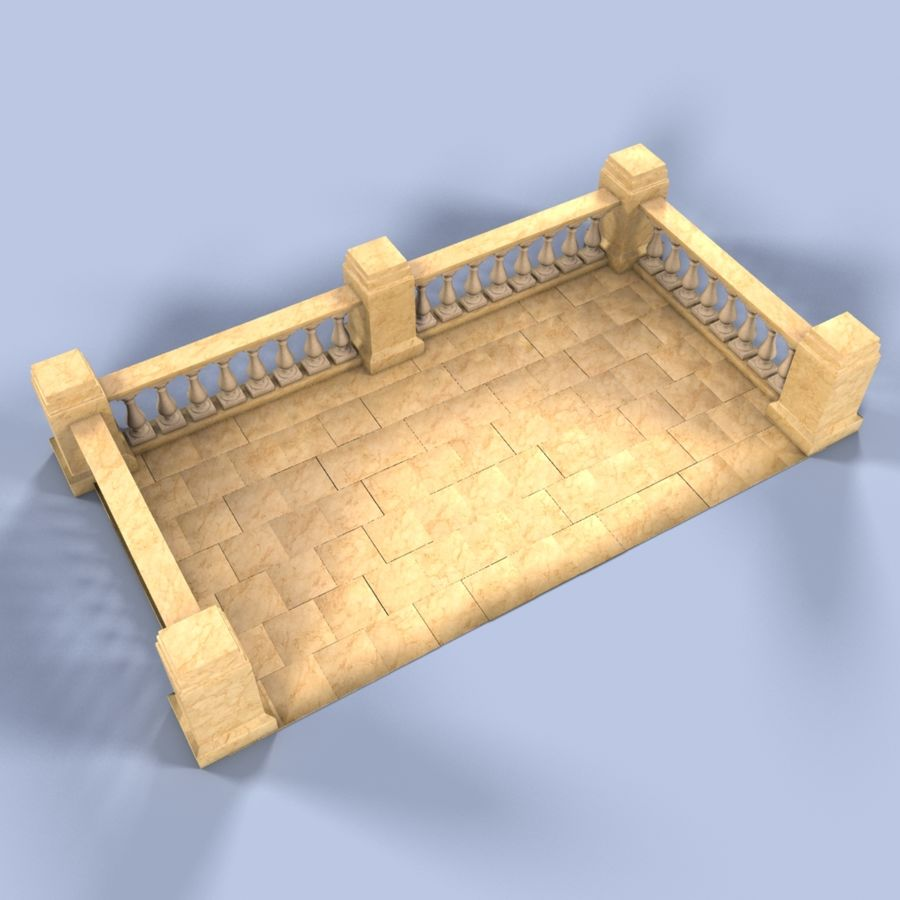 Balcony royalty-free 3d model - Preview no. 2