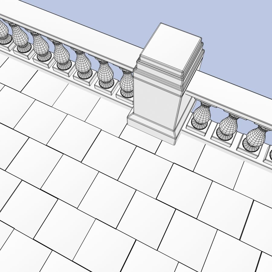 Balcony royalty-free 3d model - Preview no. 14