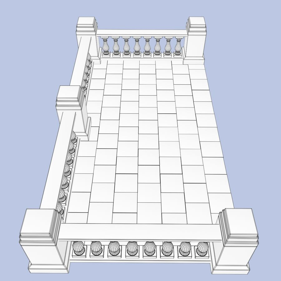 Balcony royalty-free 3d model - Preview no. 12