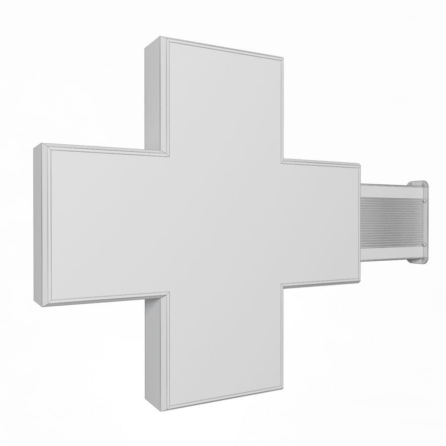 Znak apteki 1 royalty-free 3d model - Preview no. 5