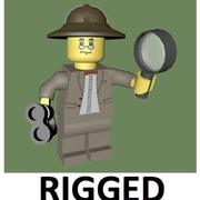 LEGO Explorer Character (Rigged) 3d model