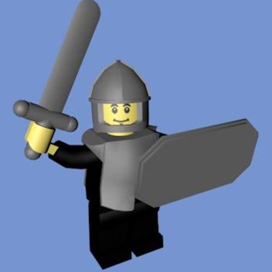 LEGO Soldatkaraktär (riggat) royalty-free 3d model - Preview no. 3
