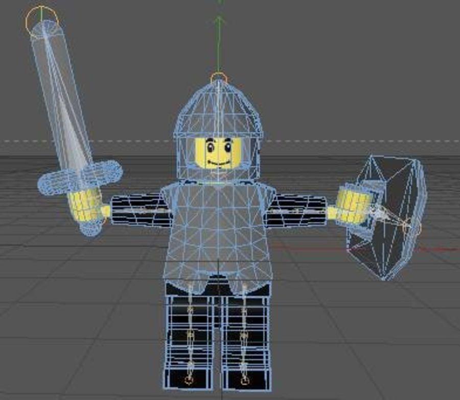 LEGO Soldatkaraktär (riggat) royalty-free 3d model - Preview no. 6