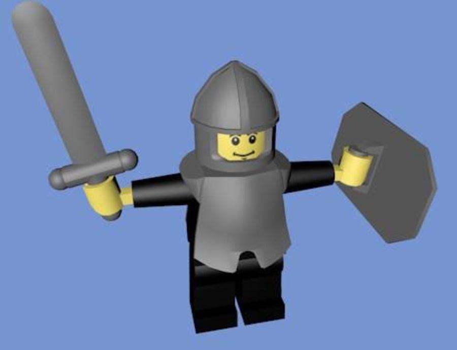 LEGO Soldatkaraktär (riggat) royalty-free 3d model - Preview no. 2