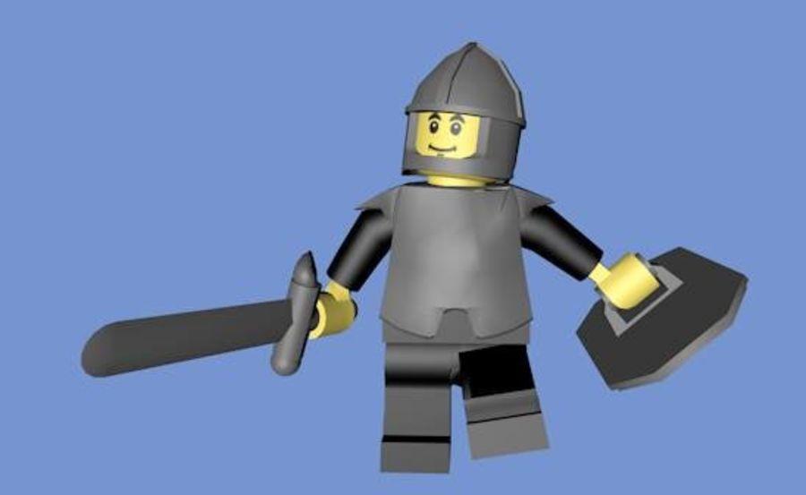 LEGO Soldatkaraktär (riggat) royalty-free 3d model - Preview no. 5