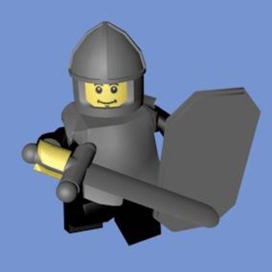 LEGO Soldatkaraktär (riggat) royalty-free 3d model - Preview no. 4