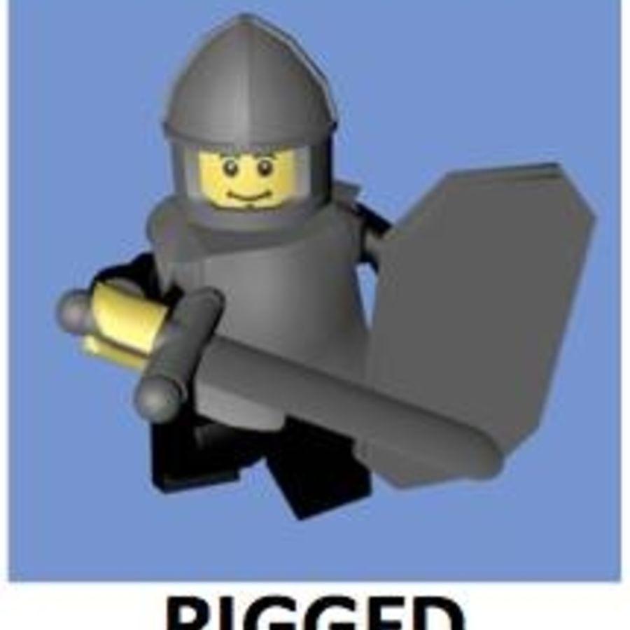 LEGO Soldatkaraktär (riggat) royalty-free 3d model - Preview no. 1
