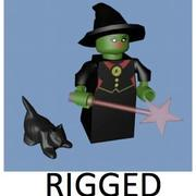 LEGO Witch Character (riggad) 3d model