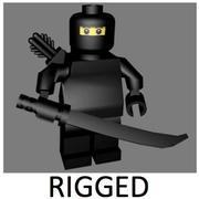 LEGO Ninja Character (riggat) 3d model