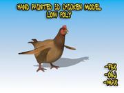 Modelo 3D de frango baixo poli 3d model
