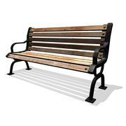 铁公园长凳 3d model