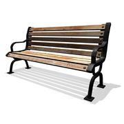 Iron Park Bench 3d model