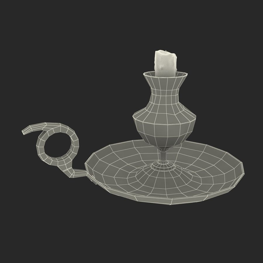 Antique Candle Holder royalty-free 3d model - Preview no. 22