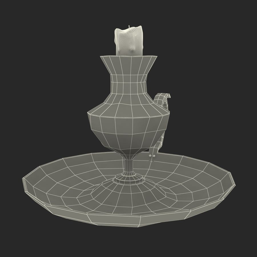 Antique Candle Holder royalty-free 3d model - Preview no. 21