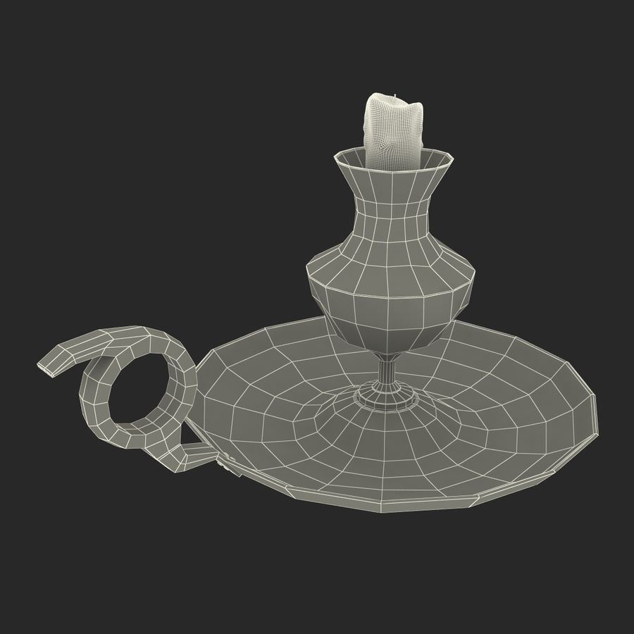 Antique Candle Holder royalty-free 3d model - Preview no. 27