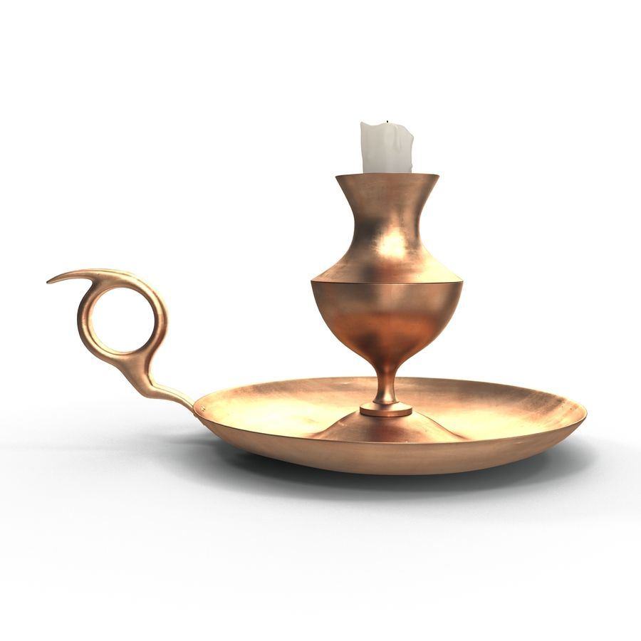 Antique Candle Holder royalty-free 3d model - Preview no. 11