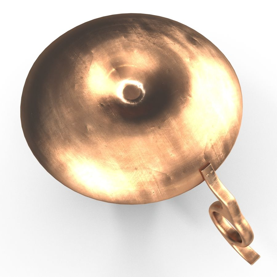 Antique Candle Holder royalty-free 3d model - Preview no. 9