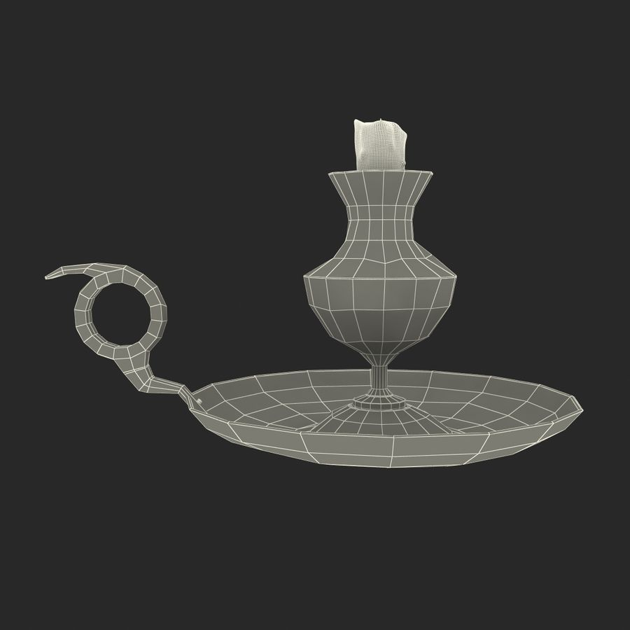 Antique Candle Holder royalty-free 3d model - Preview no. 30