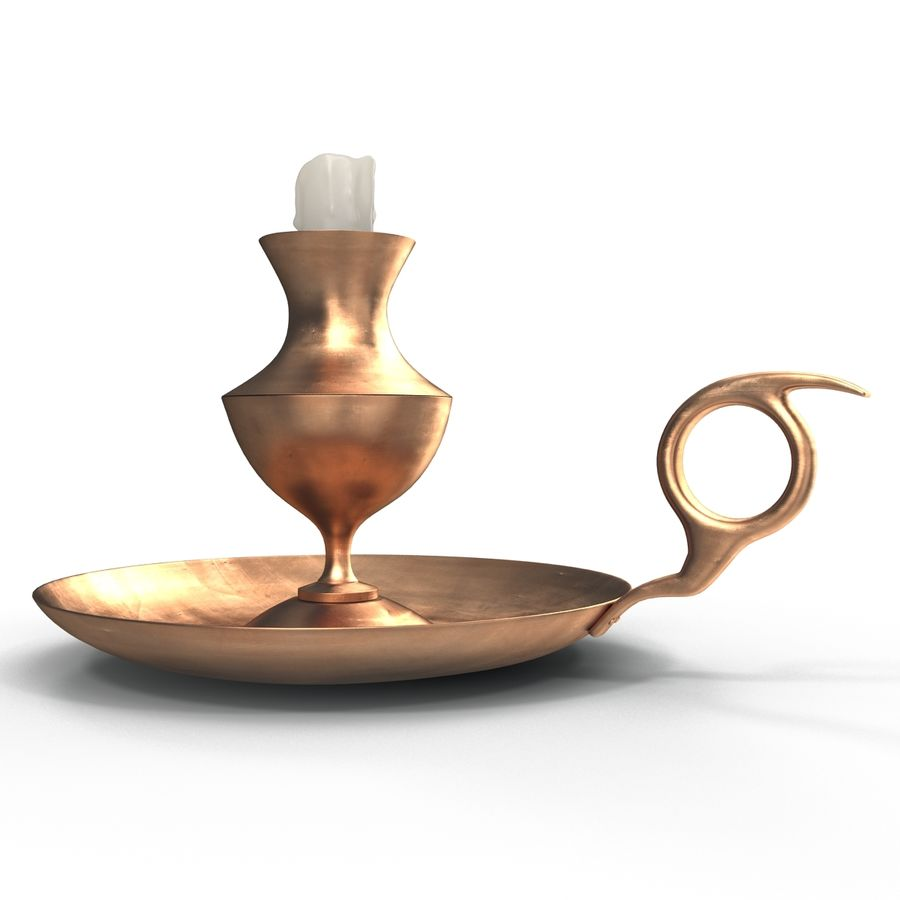 Antique Candle Holder royalty-free 3d model - Preview no. 6