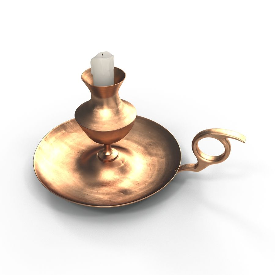 Antique Candle Holder royalty-free 3d model - Preview no. 1