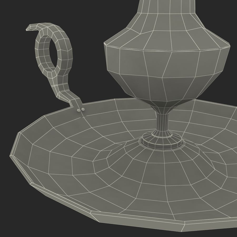 Antique Candle Holder royalty-free 3d model - Preview no. 26