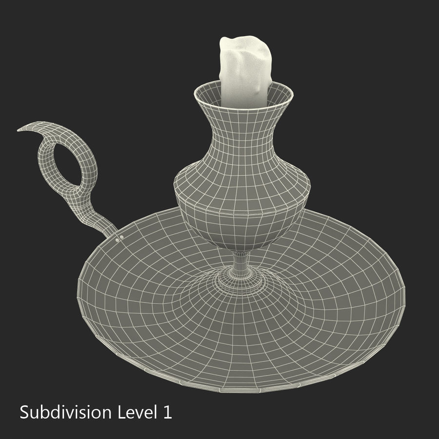 Antique Candle Holder royalty-free 3d model - Preview no. 17