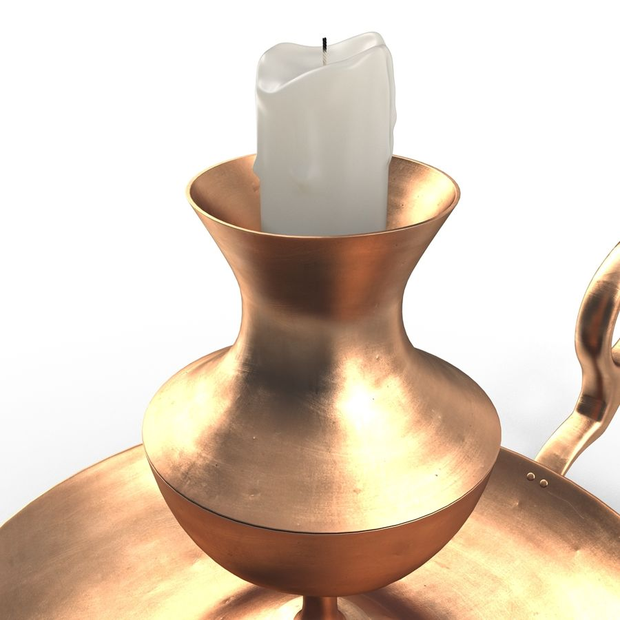 Antique Candle Holder royalty-free 3d model - Preview no. 4