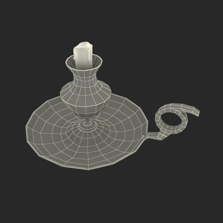 Antique Candle Holder royalty-free 3d model - Preview no. 19